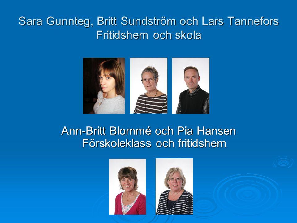 Sara Gunnteg, Britt Sundström och Lars Tannefors Fritidshem och skola