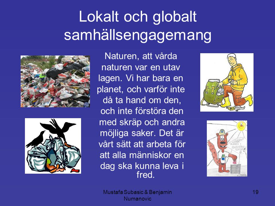 Lokalt och globalt samhällsengagemang
