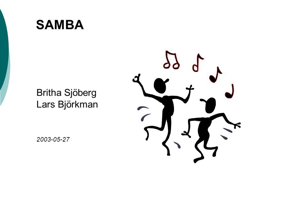 SAMBA Britha Sjöberg Lars Björkman 2003-05-27
