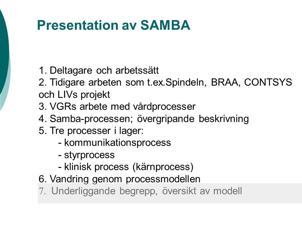 Presentation av SAMBA 1. Deltagare och arbetssätt