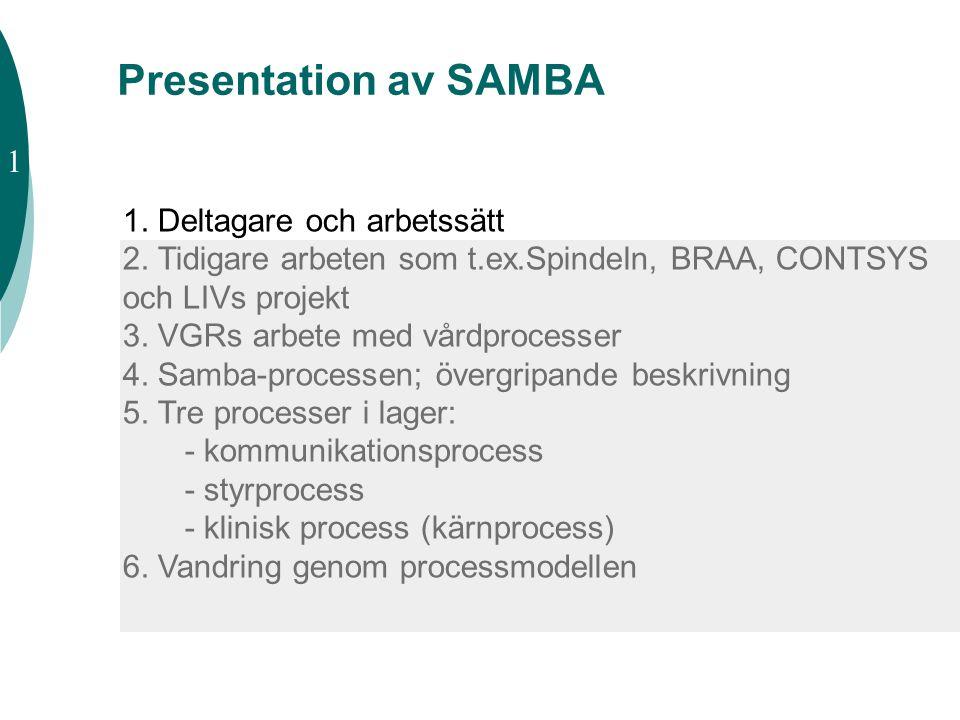 Presentation av SAMBA 1 1. Deltagare och arbetssätt