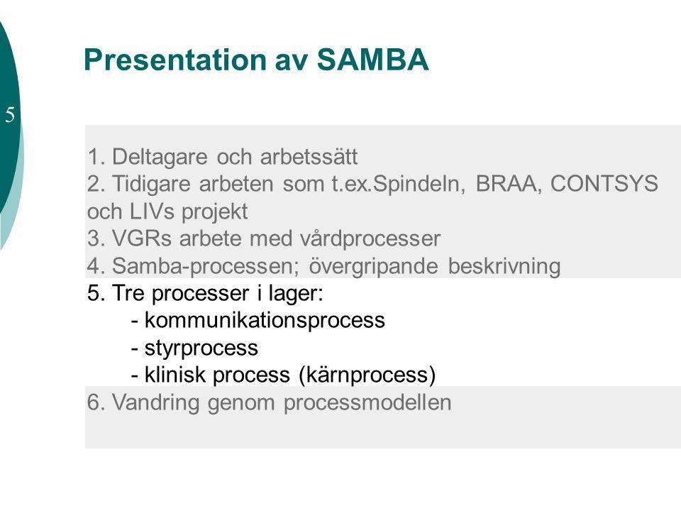 Presentation av SAMBA 5 1. Deltagare och arbetssätt