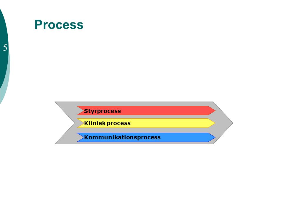 Process 5 Styrprocess Klinisk process Kommunikationsprocess