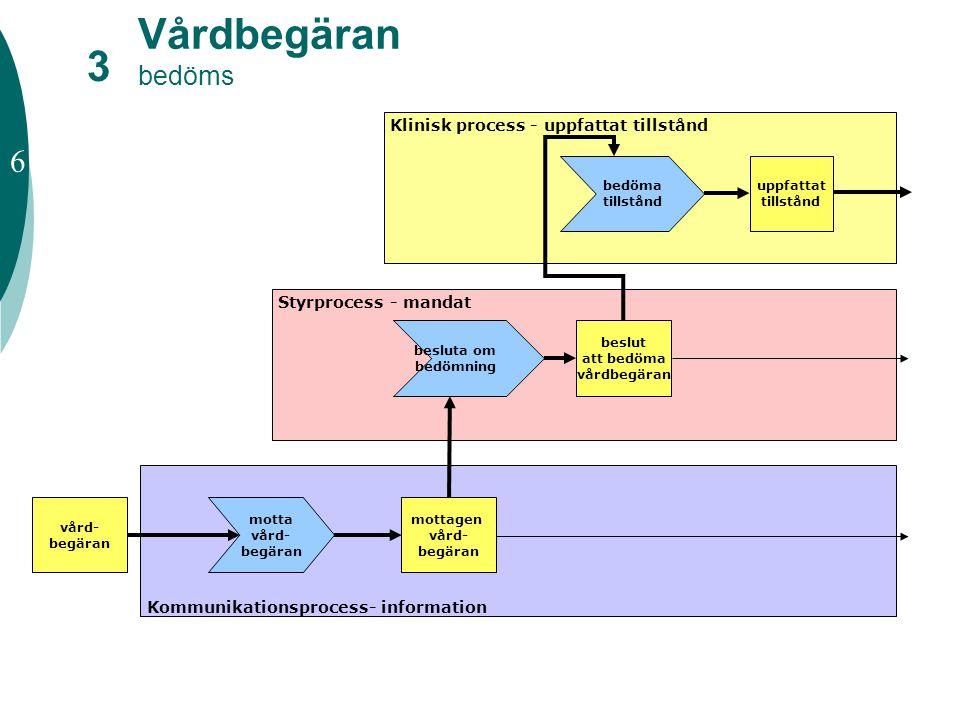 Vårdbegäran bedöms 3 6 Klinisk process - uppfattat tillstånd