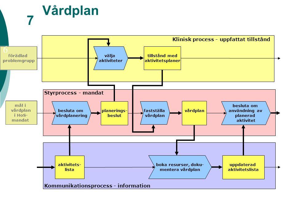 Vårdplan 7 6 Klinisk process - uppfattat tillstånd