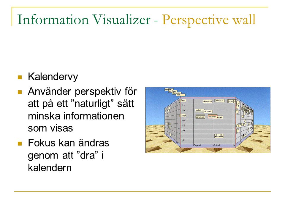 Information Visualizer - Perspective wall