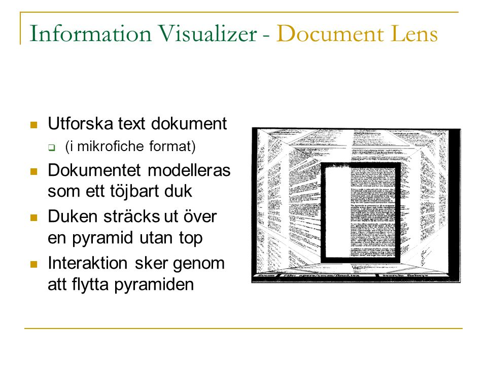 Information Visualizer - Document Lens