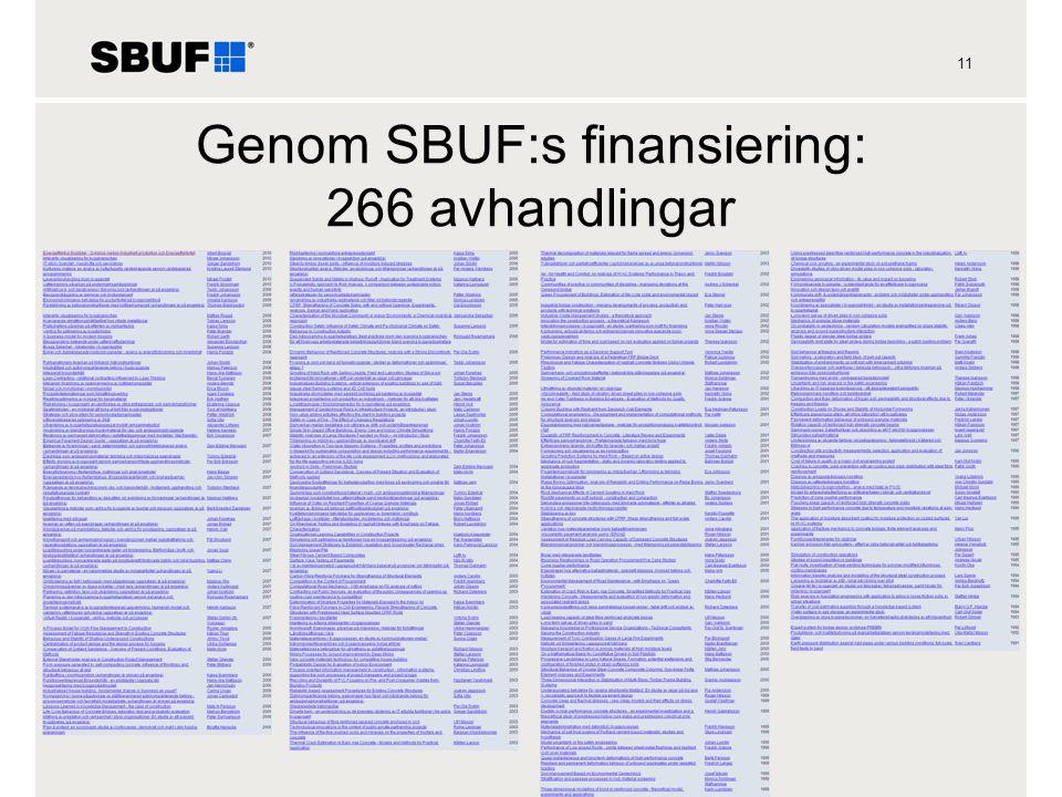 Genom SBUF:s finansiering: