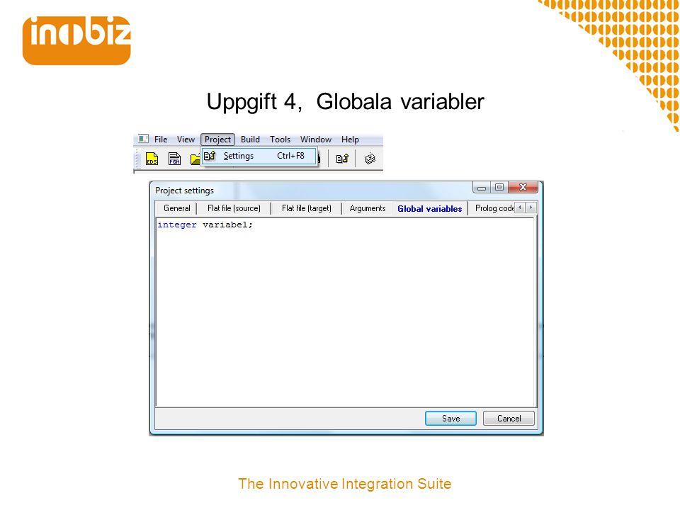 Uppgift 4, Globala variabler