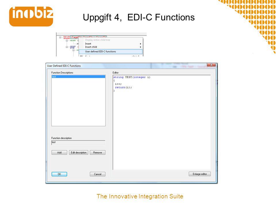 Uppgift 4, EDI-C Functions