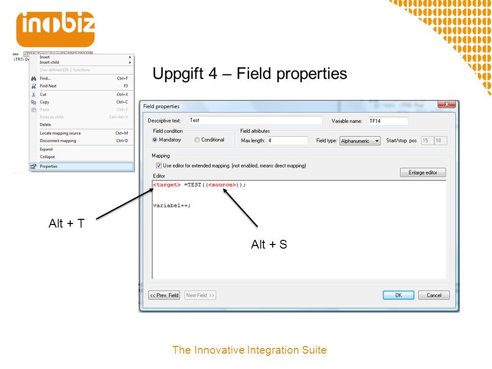 Uppgift 4 – Field properties
