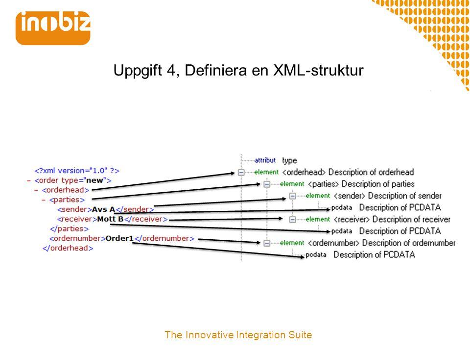 Uppgift 4, Definiera en XML-struktur