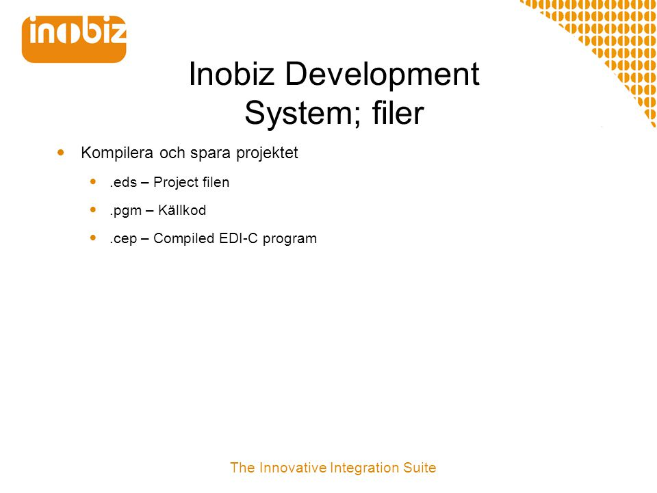 Inobiz Development System; filer
