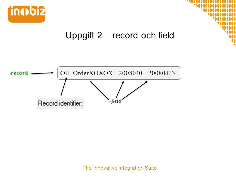 Uppgift 2 – record och field