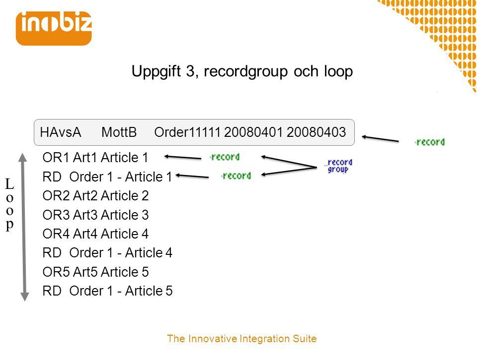 Uppgift 3, recordgroup och loop