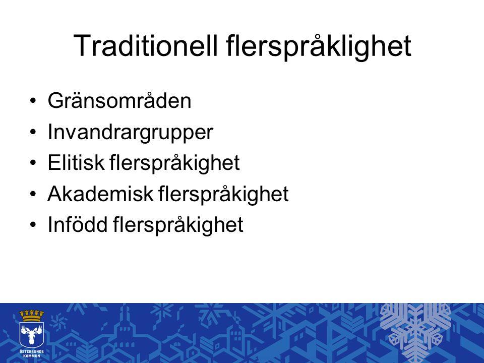Traditionell flerspråklighet