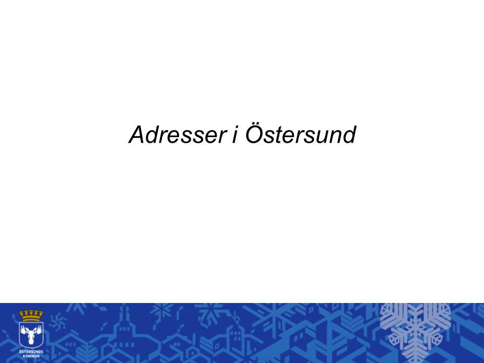 Adresser i Östersund