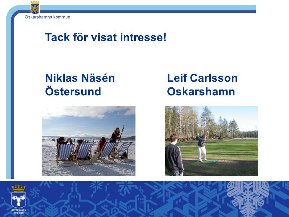 Tack för visat intresse. Niklas Näsén. Leif Carlsson Östersund