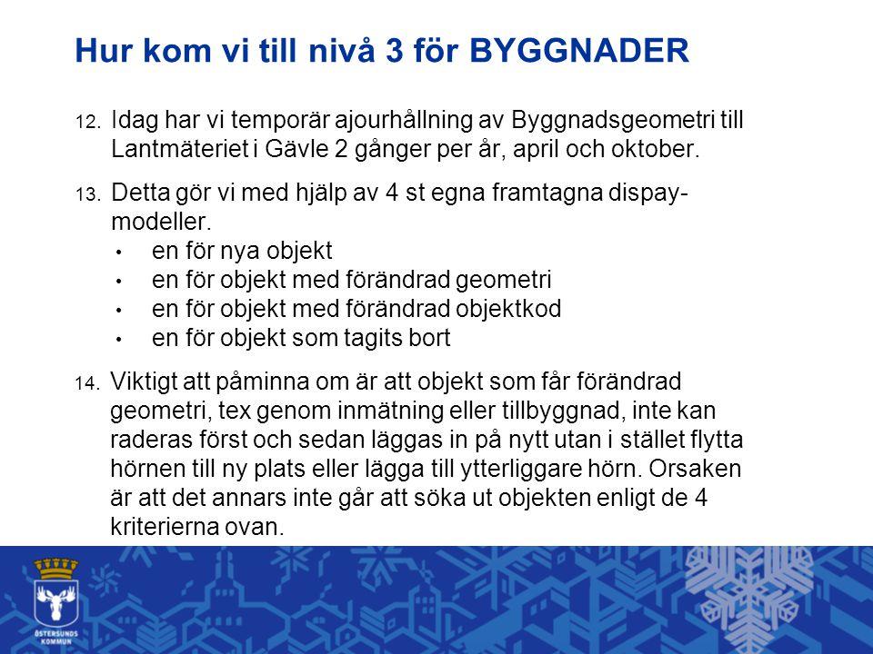 Hur kom vi till nivå 3 för BYGGNADER