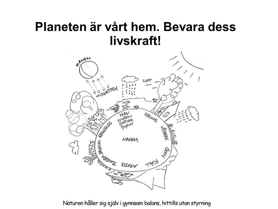 Planeten är vårt hem. Bevara dess livskraft!