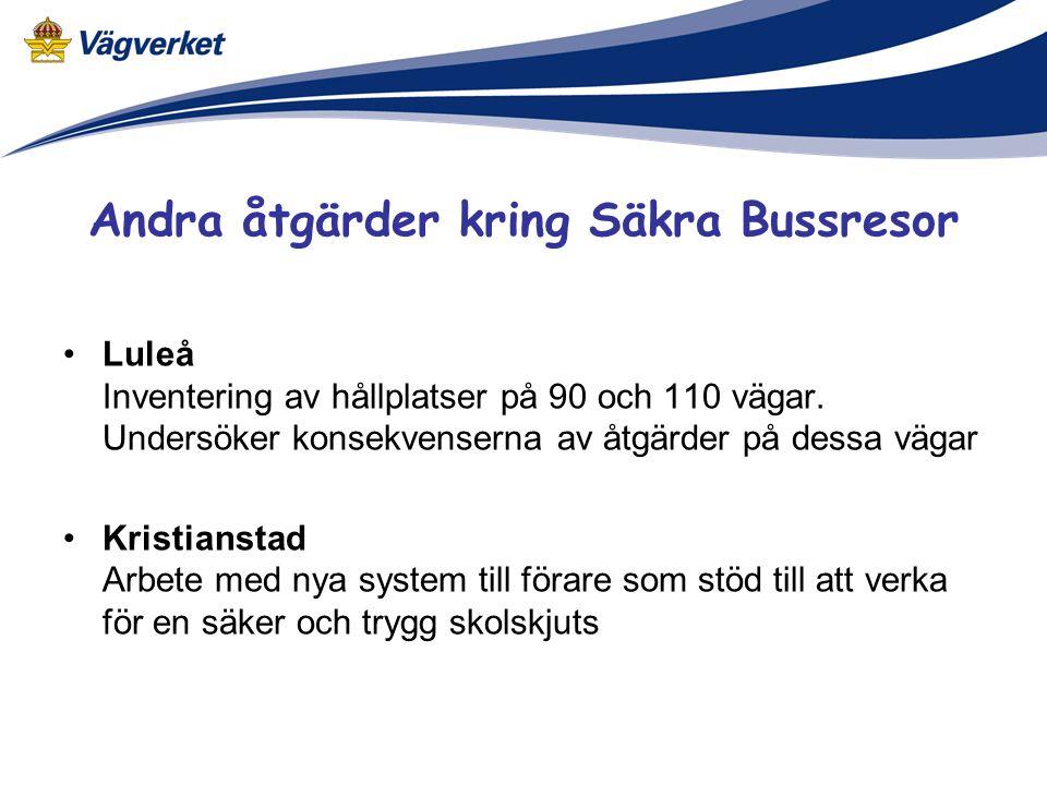 Andra åtgärder kring Säkra Bussresor