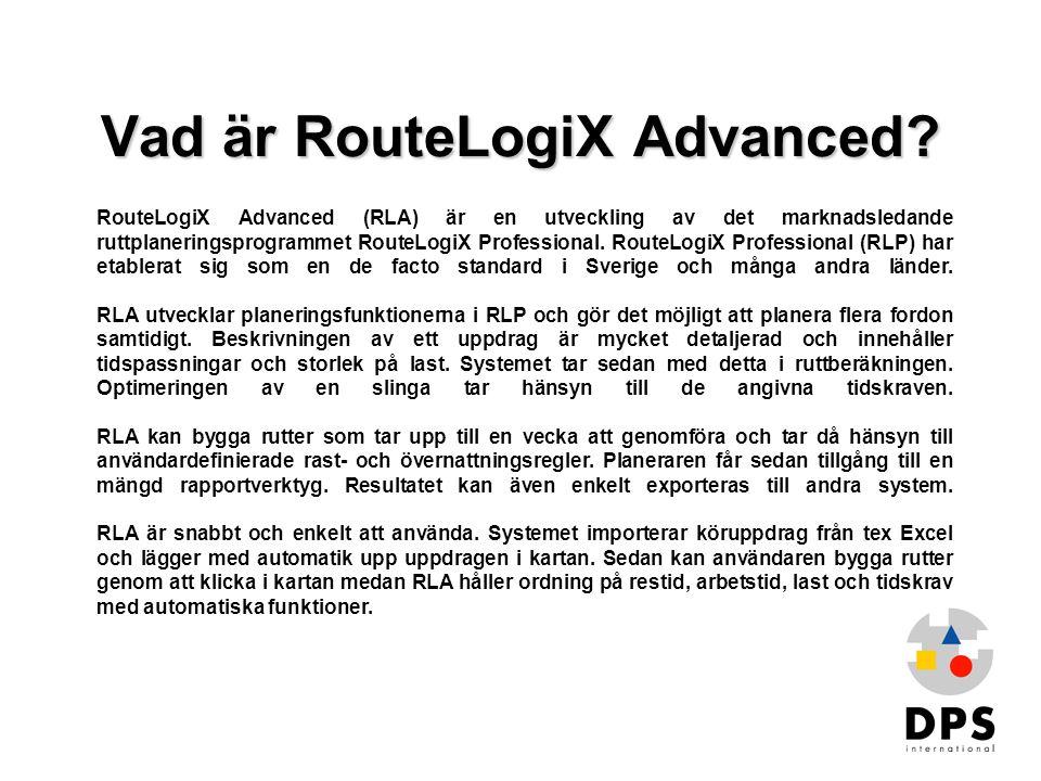 Vad är RouteLogiX Advanced