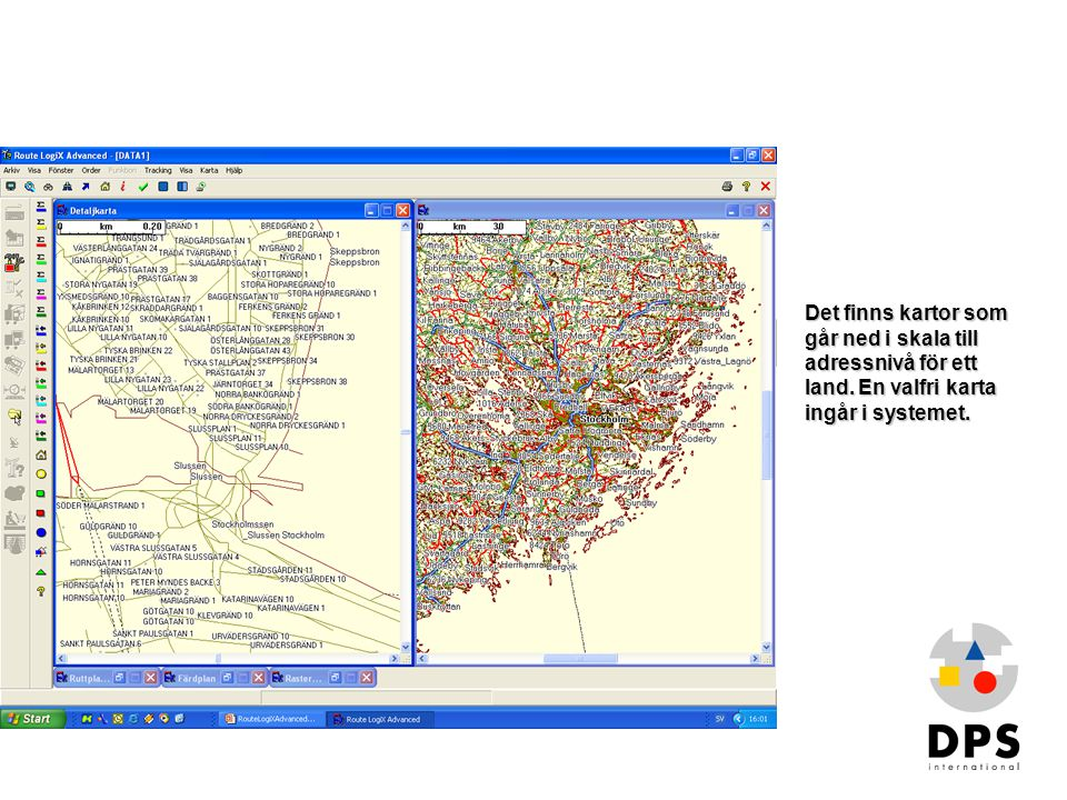 Det finns kartor som går ned i skala till adressnivå för ett land