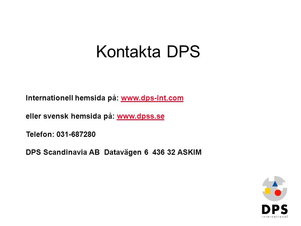 Kontakta DPS