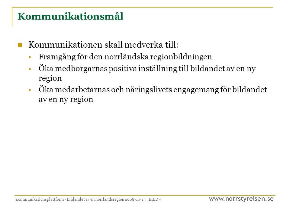 Kommunikationsmål Kommunikationen skall medverka till:
