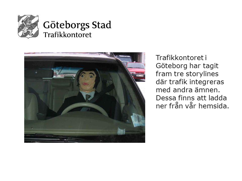 Trafikkontoret i Göteborg har tagit fram tre storylines där trafik integreras med andra ämnen.