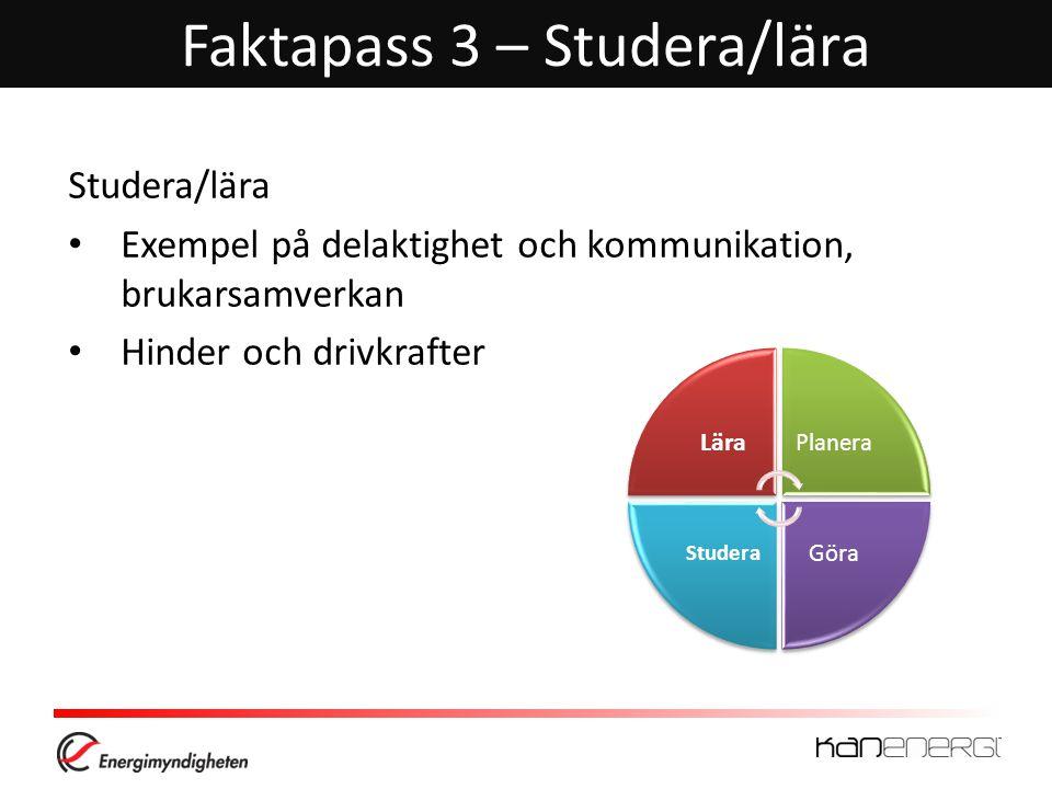 Faktapass 3 – Studera/lära