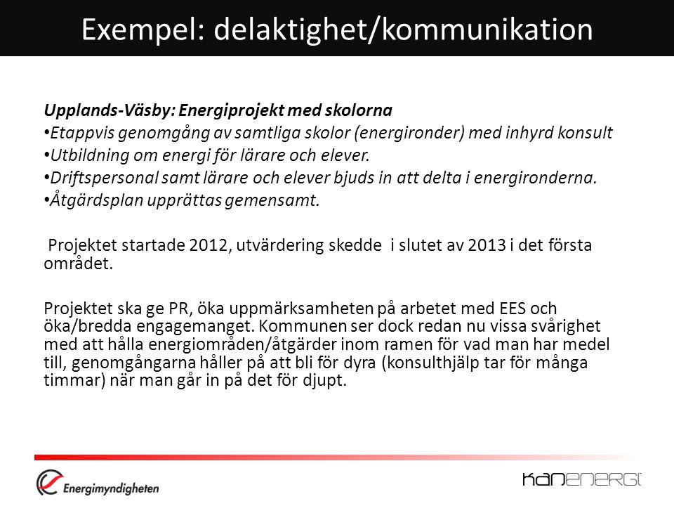 Exempel: delaktighet/kommunikation