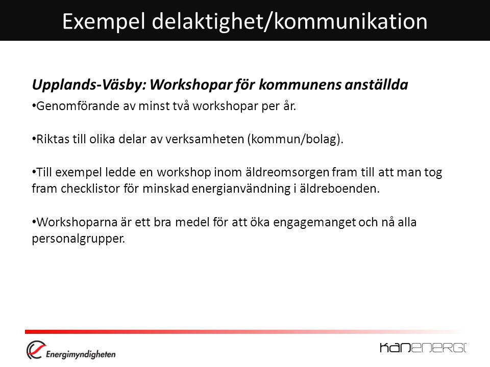 Exempel delaktighet/kommunikation