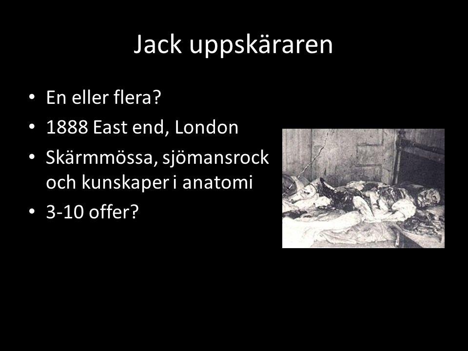 Jack uppskäraren En eller flera 1888 East end, London