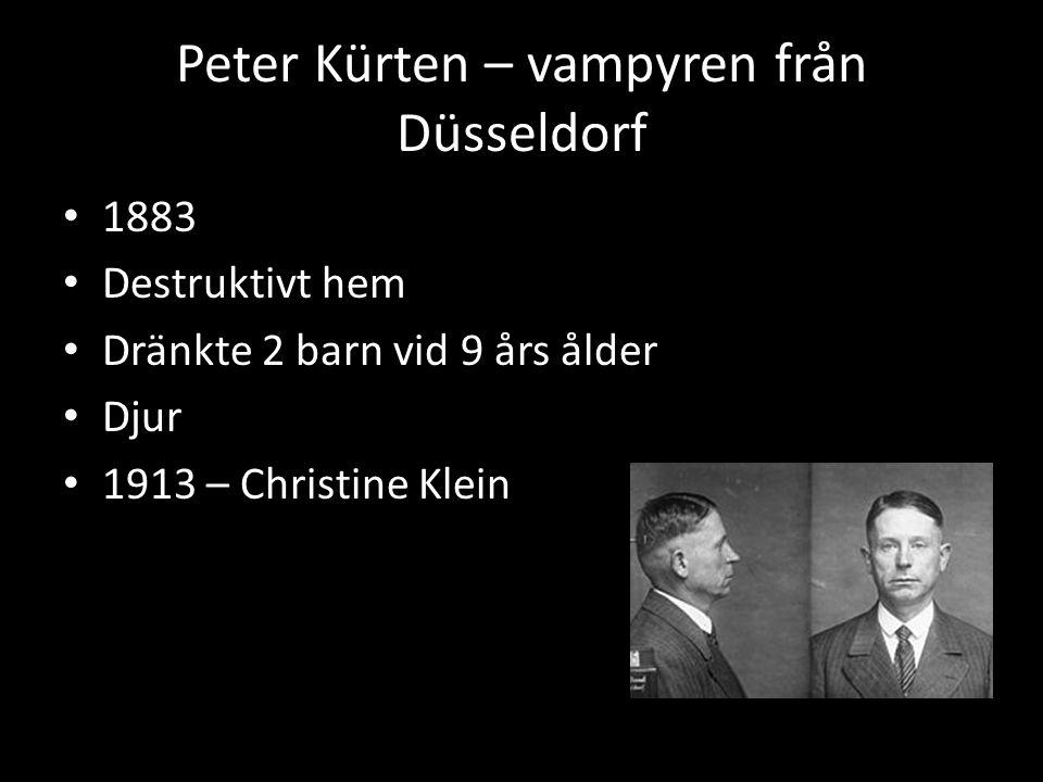 Peter Kürten – vampyren från Düsseldorf