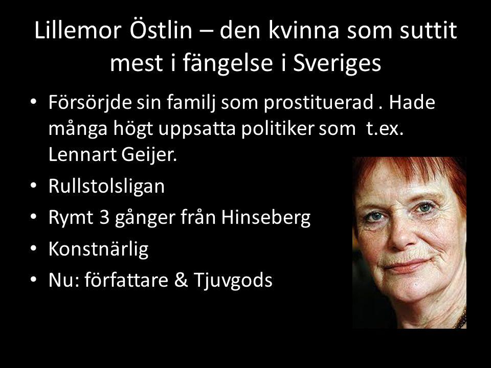 Lillemor Östlin – den kvinna som suttit mest i fängelse i Sveriges