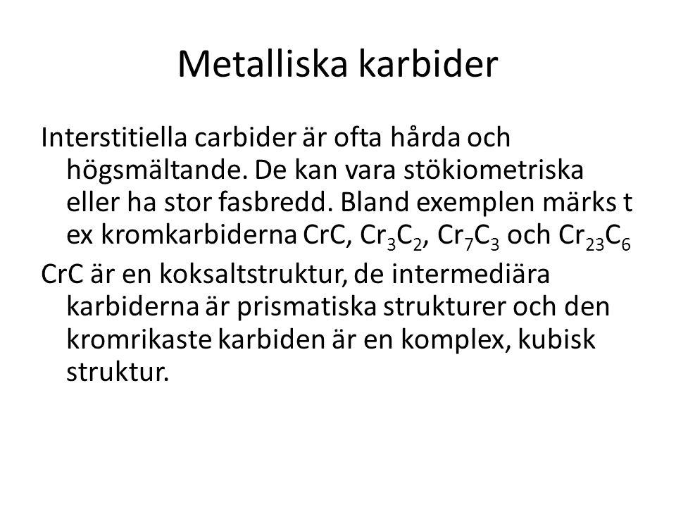 Metalliska karbider