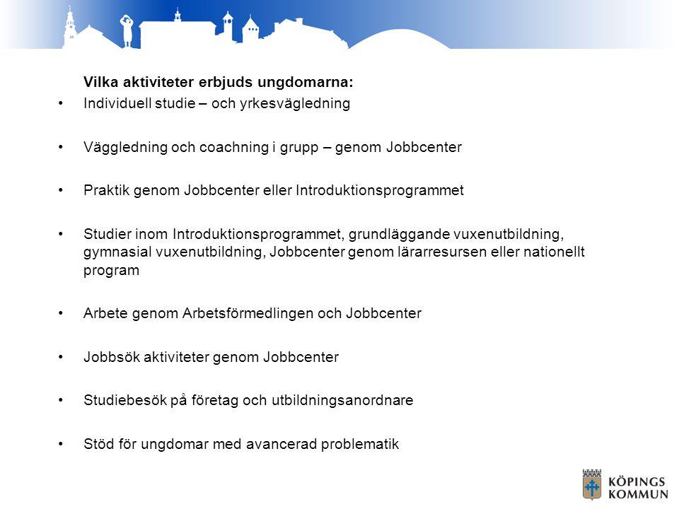 Vilka aktiviteter erbjuds ungdomarna:
