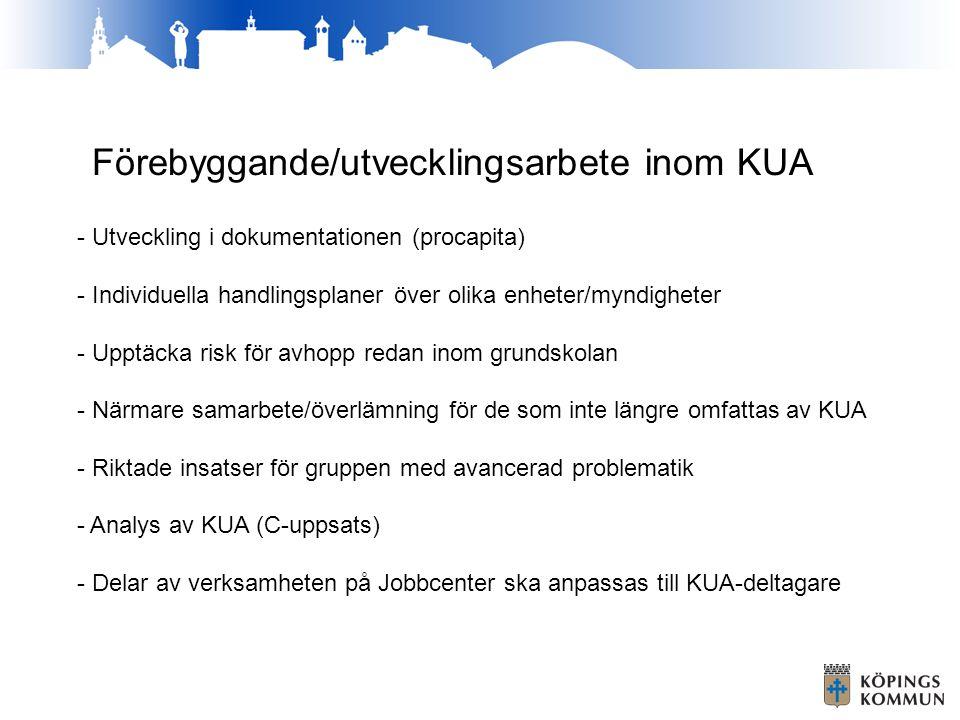 Förebyggande/utvecklingsarbete inom KUA