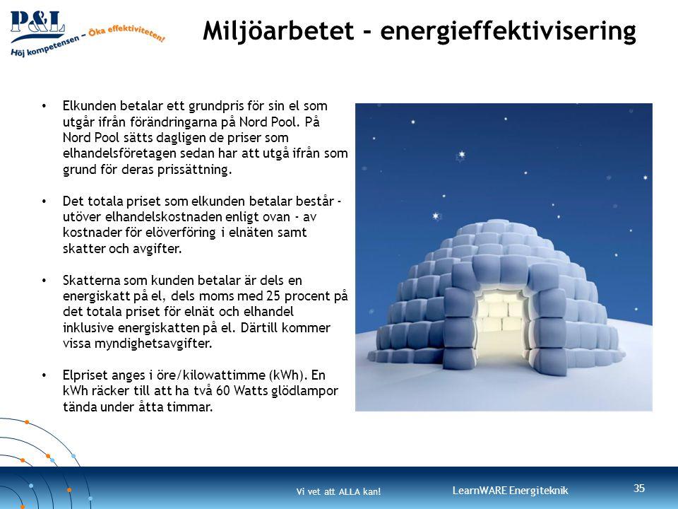 Miljöarbetet - energieffektivisering