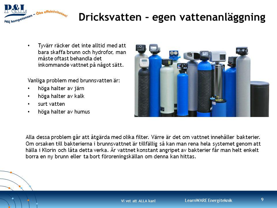 Dricksvatten – egen vattenanläggning