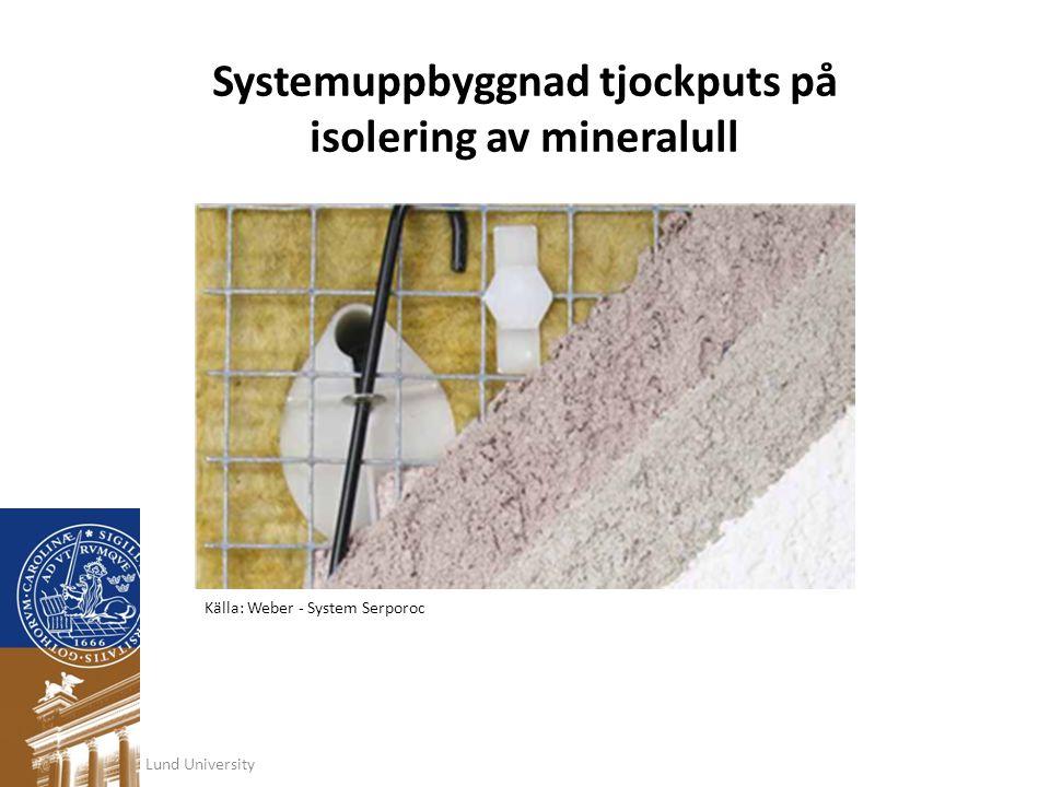 Systemuppbyggnad tjockputs på isolering av mineralull
