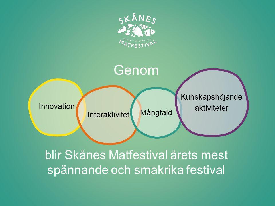 blir Skånes Matfestival årets mest spännande och smakrika festival
