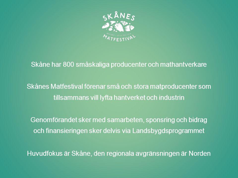 Huvudfokus är Skåne, den regionala avgränsningen är Norden