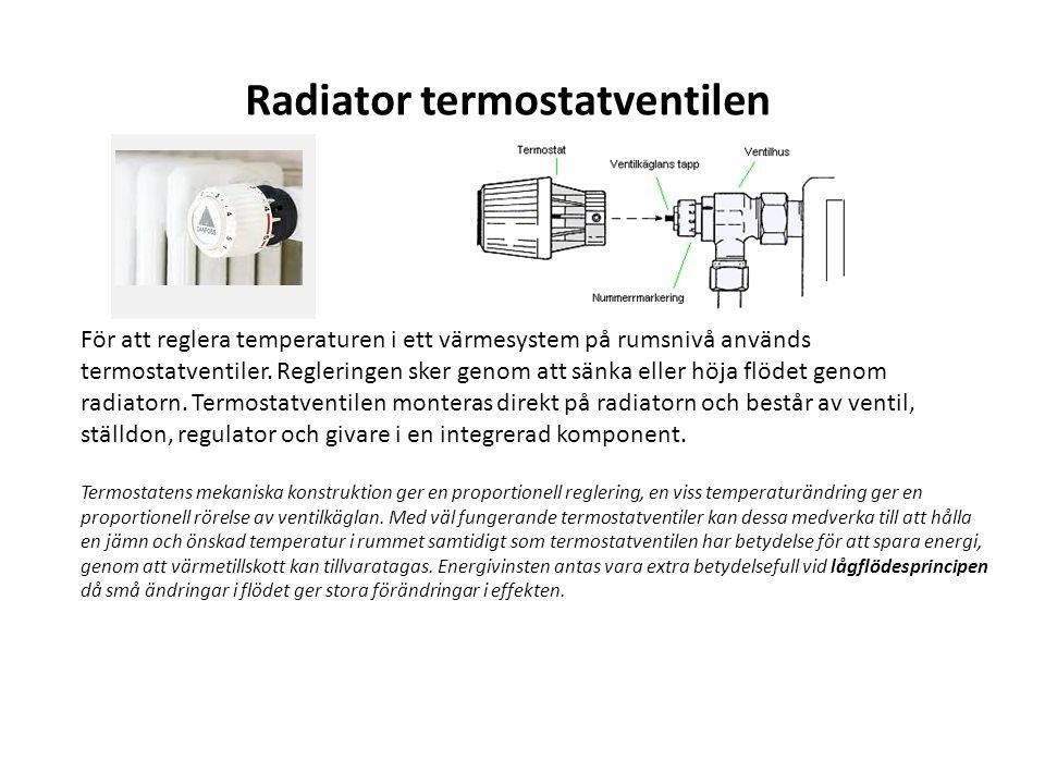 Radiator termostatventilen