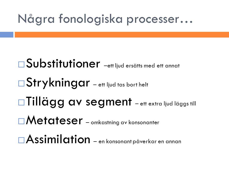 Några fonologiska processer…