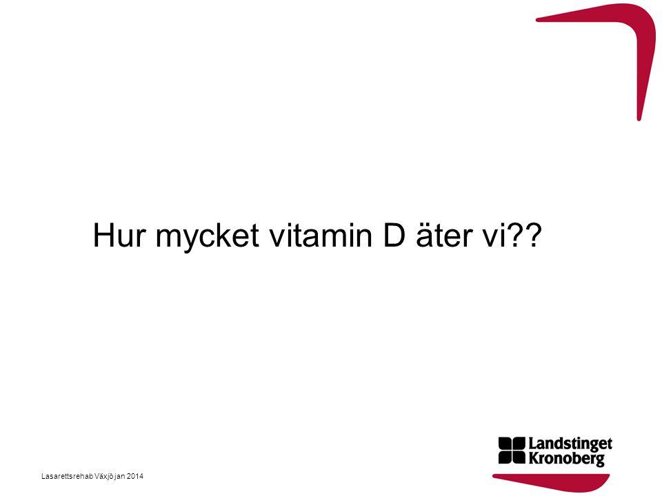 Hur mycket vitamin D äter vi