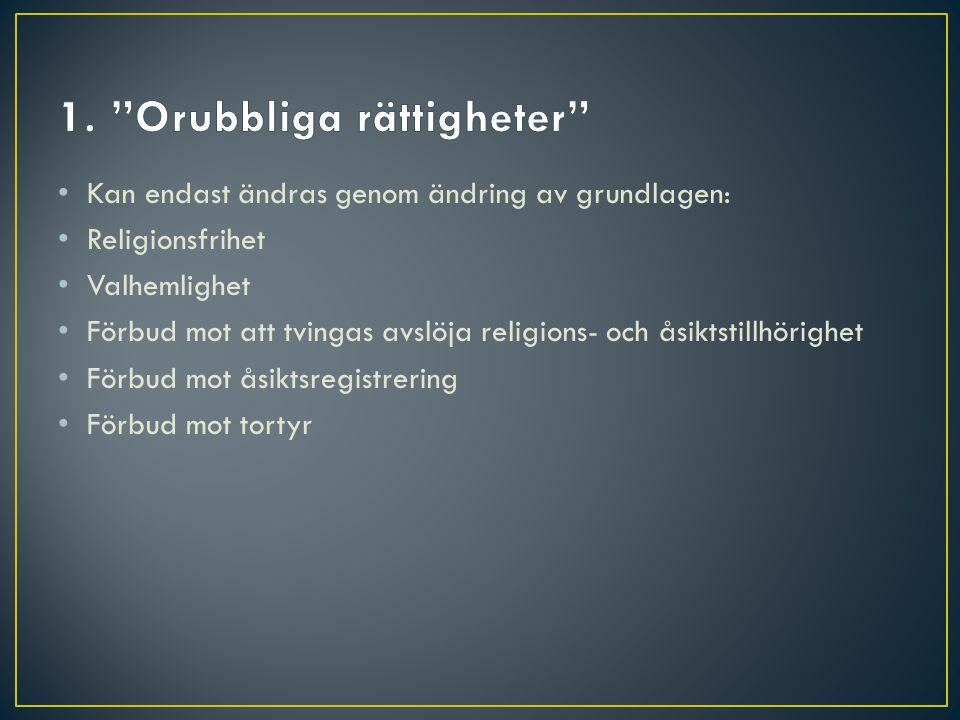 1. Orubbliga rättigheter