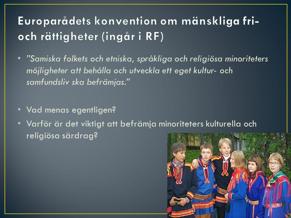 Europarådets konvention om mänskliga fri- och rättigheter (ingår i RF)