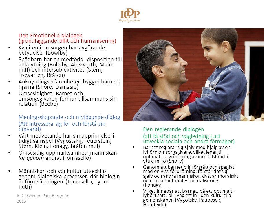 Vägledande samspels/ICDP:s tre dialoger